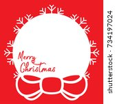template christmas card  for... | Shutterstock .eps vector #734197024