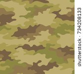 seamless camouflage pattern....   Shutterstock .eps vector #734208133