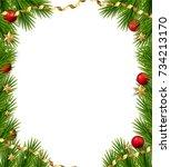 Christmas Tree Frame. Vector...