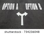 option a or option b choice... | Shutterstock . vector #734236048