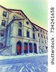 france  briancon  warehouse... | Shutterstock . vector #734241658