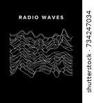 vector sound waves. audio... | Shutterstock .eps vector #734247034