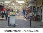 poplar  london  october  2017 ... | Shutterstock . vector #734267326