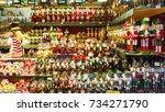 salzburg  austria   december 25 ... | Shutterstock . vector #734271790