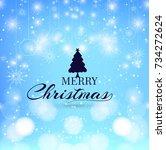 modern mery christmas background | Shutterstock .eps vector #734272624