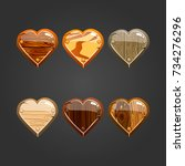 big set with wooden heart. game ...