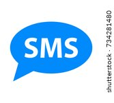 sms icon. vector simple... | Shutterstock .eps vector #734281480