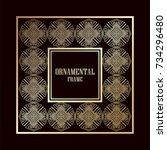 art deco ornamental vintage...   Shutterstock .eps vector #734296480
