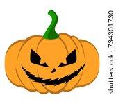 isolated halloween jack o...