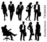 global team   vector silhouettes | Shutterstock .eps vector #73430434