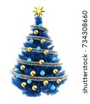 3d illustration of blue...   Shutterstock . vector #734308660