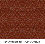 abstract repeat backdrop.... | Shutterstock . vector #734309836