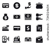 16 vector icon set   card ... | Shutterstock .eps vector #734314654