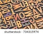 background of random vintage... | Shutterstock . vector #734315974