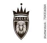 eagle mascot logo design vector