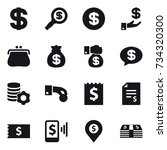 16 vector icon set   dollar ... | Shutterstock .eps vector #734320300