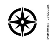 compass vector icon. | Shutterstock .eps vector #734320606