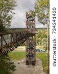 anyksciai  lithuania   oktober  ... | Shutterstock . vector #734341420