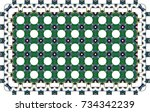 colorful pattern for carpets ... | Shutterstock . vector #734342239