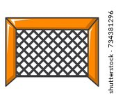 hockey gate icon. cartoon...   Shutterstock . vector #734381296