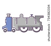 old steam locomotive icon.... | Shutterstock . vector #734382334