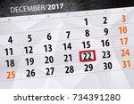 december 22 calendar   Shutterstock . vector #734391280