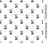 webcam pattern seamless repeat... | Shutterstock . vector #734393224