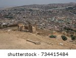 panorama of the fes  fez ...   Shutterstock . vector #734415484