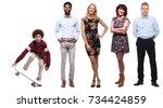 happy family full body | Shutterstock . vector #734424859