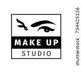 make up logo for beauty studio. ... | Shutterstock .eps vector #734425126