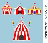 circus show entertainment tent... | Shutterstock .eps vector #734427844