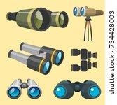 professional camera lens... | Shutterstock .eps vector #734428003