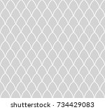 ornamental victorian waves... | Shutterstock .eps vector #734429083