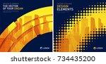 design element for corporate... | Shutterstock .eps vector #734435200