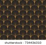 vintage art deco seamless... | Shutterstock .eps vector #734436310