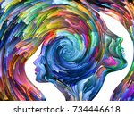 colors in us series. interplay... | Shutterstock . vector #734446618