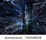 virtual space series. graphic... | Shutterstock . vector #734448058