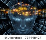 radiating mind series. 3d... | Shutterstock . vector #734448424