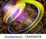 number domain series. design... | Shutterstock . vector #734448478