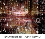 digital city series. creative...   Shutterstock . vector #734448940