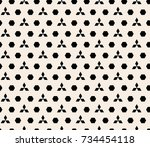 seamless abstract geometric... | Shutterstock .eps vector #734454118