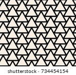 seamless abstract geometric... | Shutterstock .eps vector #734454154