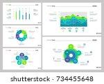 five data analysis slide... | Shutterstock .eps vector #734455648