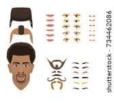 man face emotions constructor... | Shutterstock .eps vector #734462086