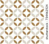 japanese pattern vector. gold... | Shutterstock .eps vector #734462524