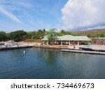 Manele harbor at Manele bay on the island of Lanai, in Maui County, Hawaii.