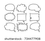 bubble speech doodle | Shutterstock .eps vector #734477908