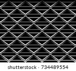 abstract geometric structure | Shutterstock .eps vector #734489554