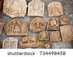 scythians artifact of ancient... | Shutterstock . vector #734498458