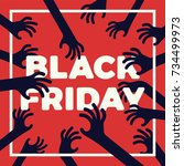 funny black friday concept... | Shutterstock .eps vector #734499973